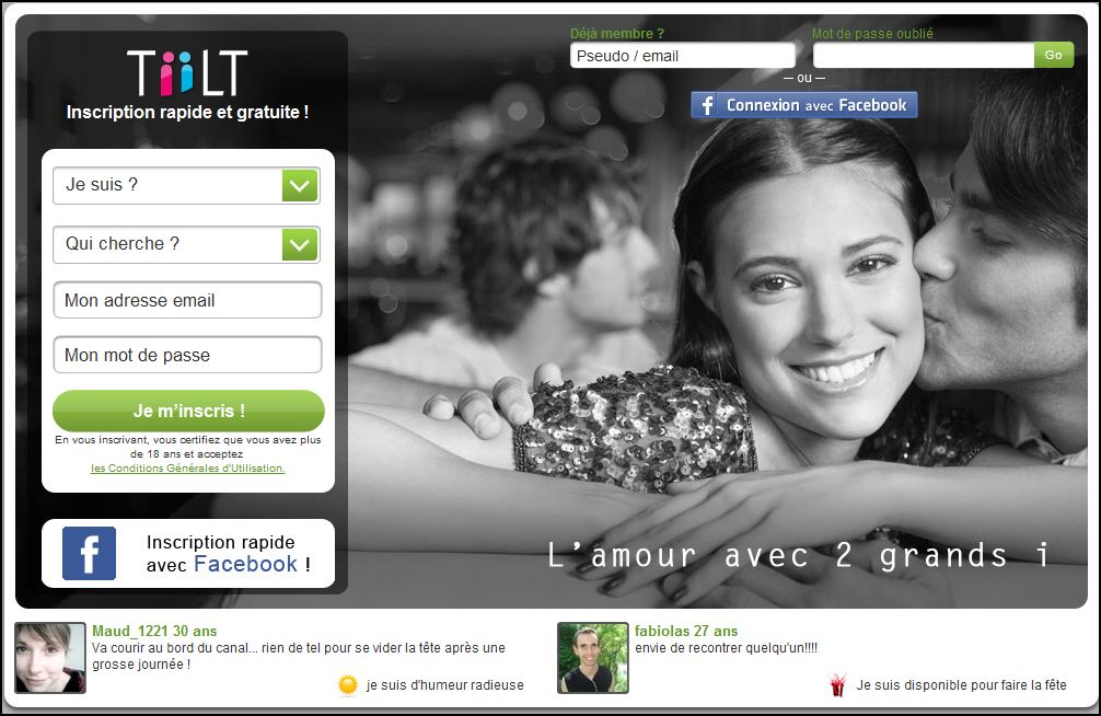 Tiilt.fr, un site de rencontre gratuit